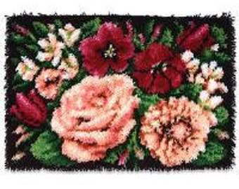 Floral Latch Hook rug