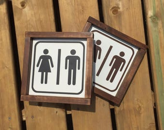 Farmhouse Decor, Bathroom Decor, Bathroom Sign, Restroom Sign, Washroom Sign, Bathroom Decor, Farmhouse Bathroom, Rustic bathroom, wood sign