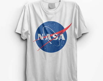 NASA White Vintage Look T-Shirt - S M L XL
