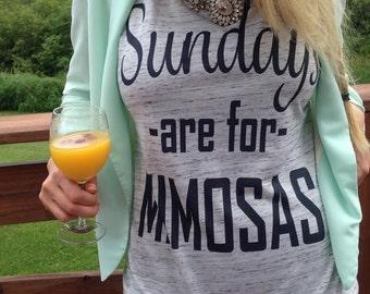 Sundays are for mimosas,Sunday Funday,Brunch shirt,Brunch,Mornings are for Mimoasa,Sunday Brunch, Mimosas, bachelorette shirt, wedding shirt