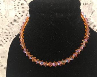 Swarovski Peachy Keen Set of Two Crystal Bead Bracelets