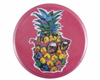 "Funky Pineapple 1.25"" Button Pin"