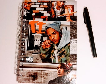 T.I Notebook, Small Notebook, sketchbook, blank book, fan art, music, rap notebook, cool notebook,unique book, Rapper notebook,Unlined paper