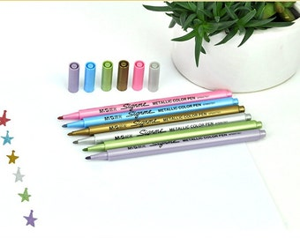 Package of 6, Signme Metallic Color Pens
