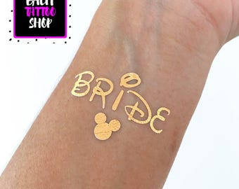 Disney inspired bachelorette party, theme park bachelorette, bachelorette tattoo