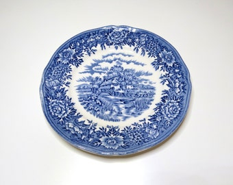 6 1/2 inch Bread & Butter Plate Colonial Village Blue Salem China Company