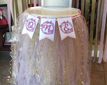 Pink and Gold Highchair Tutu