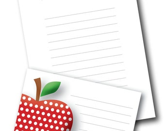 Customised Teacher Apple Notepaper - Printable