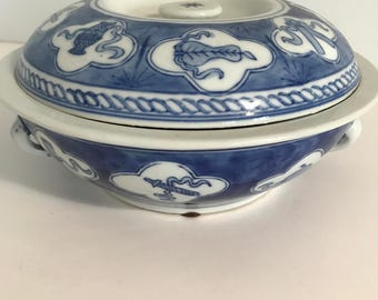 JUST REDUCED!! Vintage William Sonoma Chinese Rice Bowl With Lid