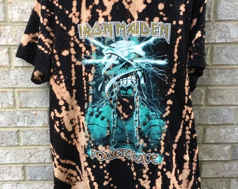 Vintage Inspired Bleached Iron Maiden Shirt