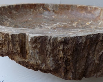 Sink in petrified wood fossil DP903 cm 66x55x15