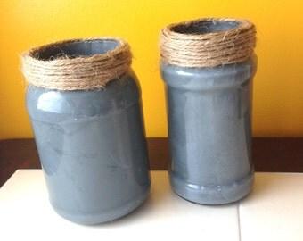 gray jars