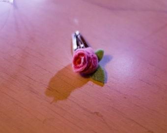 Floral rose hair clip