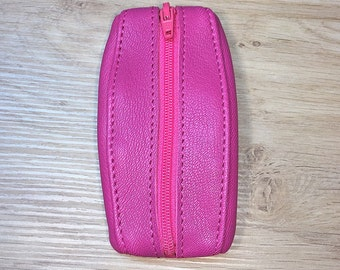 Fuchsia leather wallet