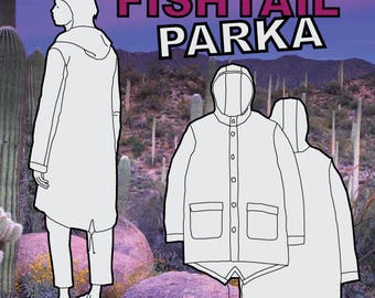 Fishtail Jacket PDF Sewing Pattern S M L XL
