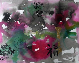 abstract art inks modern painting mixed medias