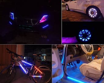 SMD Flexible Waterproof LED Light Strips (Single) Car Led, bike light, wheel, party, crafting LED strip Choice of color easy install