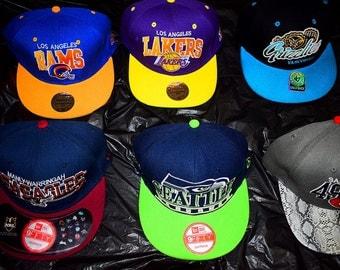Set of 6 Sports Team Baseball Caps