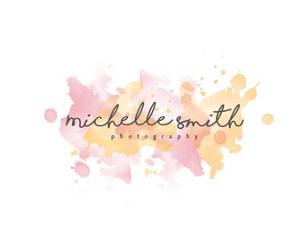 Water Color Logo, Pre Made Logo, Affordable Logo, Hand Written Logo, watermark, Marketing, Initials, Photography Logo