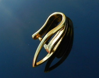 Exclusive and Large Pinch Bail Vermeil 24k gold over Sterling Silver