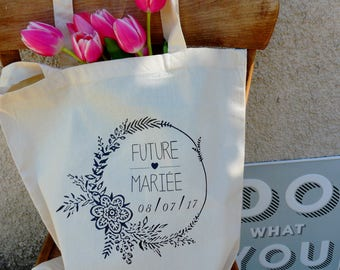 Bag bride future totebag - bag totebag married in the year - gift - original - bachelorette party gift bag-