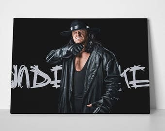 The Undertaker Poster or The Undertaker Canvas Limited Edition 24x36 WWF | The Undertaker Poster