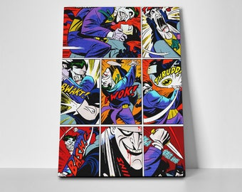 The Joker Comic Strip Poster or Canvas | Limited Edition The Joker Poster or Canvas