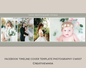 Facebook Timeline Cover Template Photography CW007
