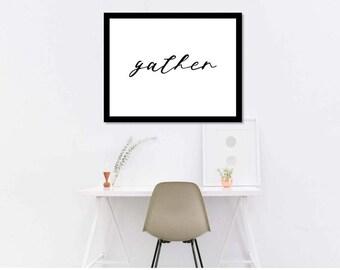 Gather Printable