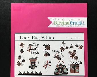 Bertina Studios lady Bug Whim Embroidery Designs