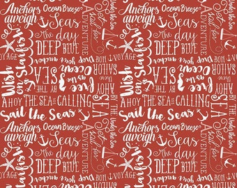 Red Sea Story  By the Sea Riley Blake Fabric by the Yard