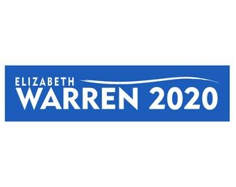 Bumper Sticker Decal Elizabeth Warren 2020 - FREE SHIPPING