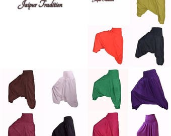 LADIES Harem Pants Cotton Baggy Yoga Afgani Geni Indian Aladdin Trouser