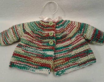 Knitted Sweater, Preemie to Newborn