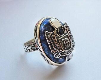 Ring Damon Salvatore,  Vampire Diaries ring, silver ring Vampire Diaries