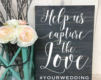 Wedding Hashtag Sign// Social Media Sign // Instagram Sign // Custom Wedding Wood Sign // Custom Sign // Home Decor // Wedding Sign // Wood