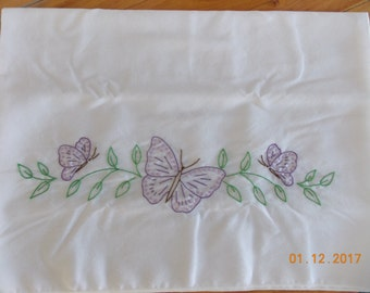 Purple Butterflies Pillowcase