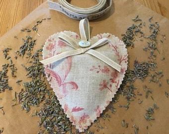 Hanging Lavender Heart