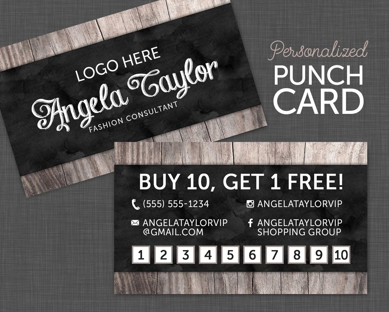 Punch card reward card business card fashion consultant card punch card reward card business card fashion consultant card black and wood colourmoves