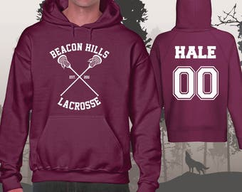 Teen Wolf Hoodie Beacon Hills Lacrosse Hoodies Hale 00 Unisex and Mens