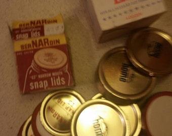 Vintage canning lids