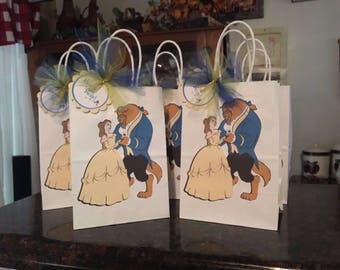 10 Disney Inspired Beauty and the Beast Party Favor Bags