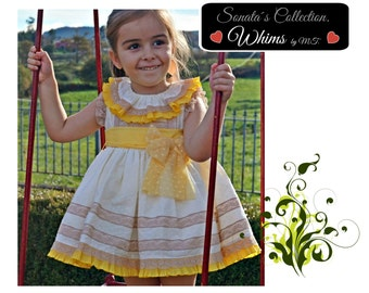 LULU dress. Baby, toddler. Special occasion or daily use. STANDARD sizes. Full shirt outfit.Birthday, easter, tea party, celebration