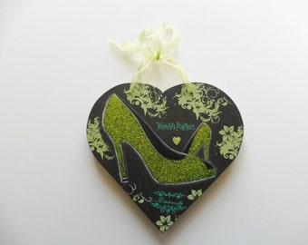 "Heart wood ""shoes, pumps"" dark green"