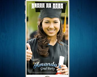 Custom Graduation Party Snapchat Geofilter | Graduation Party Filter | Grad Party | Personalized Class of 2017 Filter