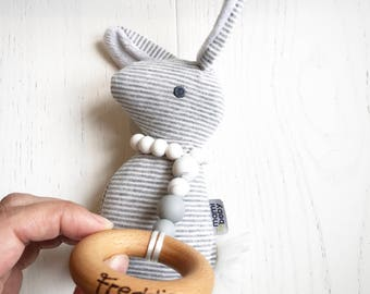 COTTONTAIL Personalised toy | Teething | Bunny | Baby gift |