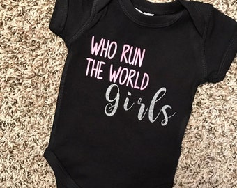 Who Run The World//Bodysuit//T-Shirt//Glitter