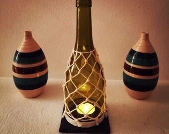 Hurricane Wine Bottle Lantern