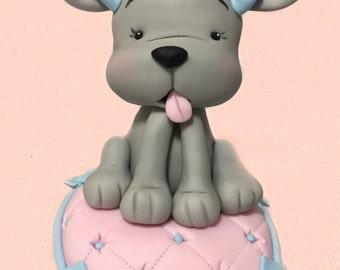 Dog puppy dog puppy baby dog 3D Cake Topper fondant