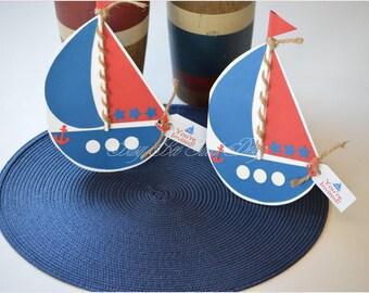 Nautical Invitations / Navy Nautical Invitations / Boat Invitations / Ahoy!